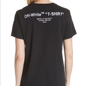 Off-White Quotes Casual Tee Black XS